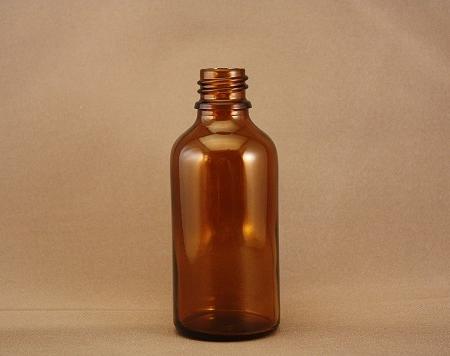 Flesje bruin glas 50 ml DIN18