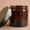 Potje van bruin glas met deksel 60 ml