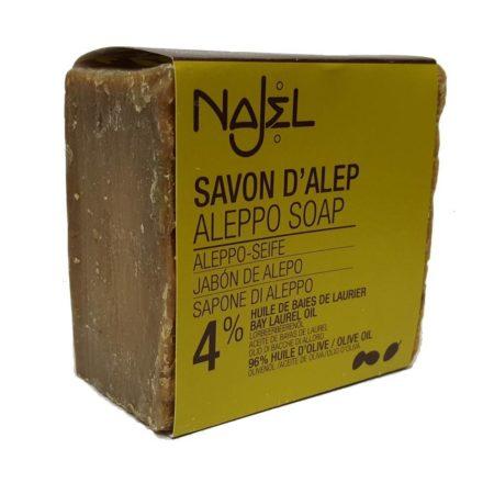 Najel Aleppo Zeep met 4% Laurierbes olie