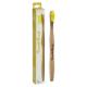 Humble Brush Bamboe tandenborstel voor volwassenen met gele borstelharen en doosje